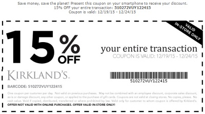 Coupon for: Kirkland's, Save with printable coupon ...