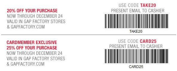 Coupon for: Save with coupons at Gap Factory ...