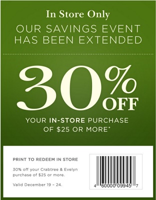 Coupon for: Crabtree & Evelyn, Savings Event extended ...