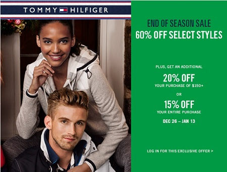 Coupon for: Tommy Hilfiger at Premium Outlets & End of season sale ...