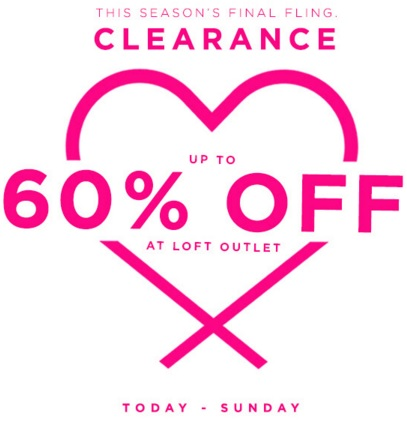 Coupon for: LOFT Outlet Stores, Big Clearance Event ...