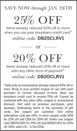 Coupon for: Save with savings pass at dressbarn ...