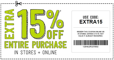 Coupon for: Save extra money with printable coupon at Crazy 8 Outlets ...