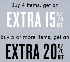 Coupon for: Shop more save more at Banana Republic Factory Stores