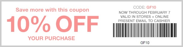 Coupon for: Save with Gap Factory coupon