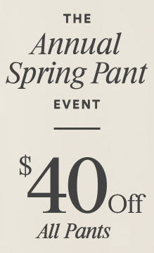 Coupon for: The Pant Event at Ann Taylor Factory Stores