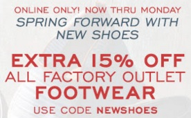Coupon for: Footwear with extra discount at G.H. Bass & Co. Factory Outlet Online