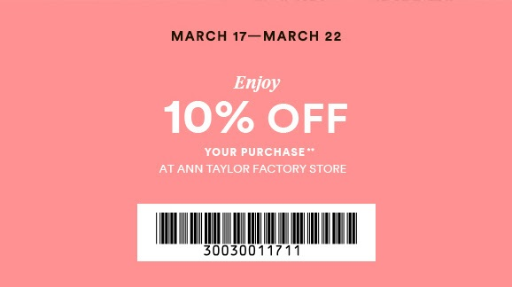 Coupon for: Enjoy The Dress Event at Ann Taylor Factory