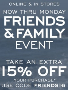 Coupon for: Friends & Family Event at G.H. Bass & Co. Factory Outlet