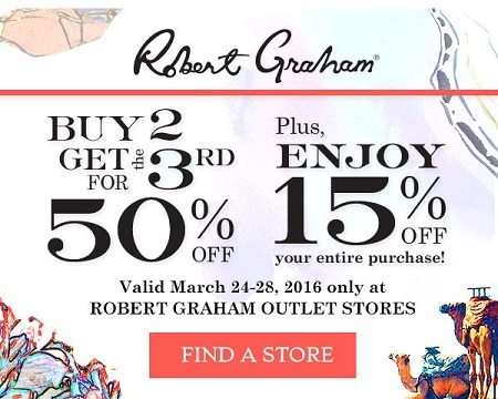 Coupon for: Robert Graham Outlet Stores at Premium Outlets