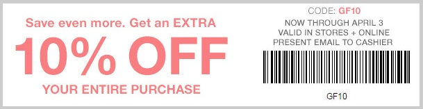 Coupon for: Save more with coupon at Gap Factory