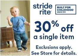 Coupon for: stride rite stores at Tanger Outlets offers a discount