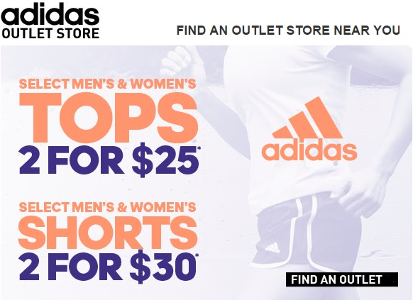 Coupon for: Save at adidas outlets right now