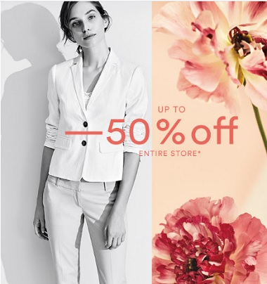 Coupon for: Entire store on sale at Ann Taylor Factory