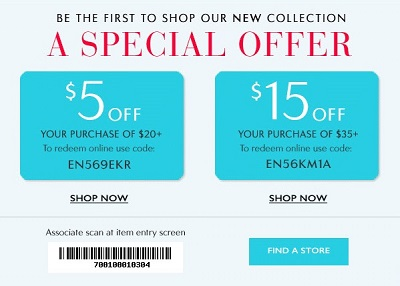 Coupon for: Save now at Charming Charlie locations and online