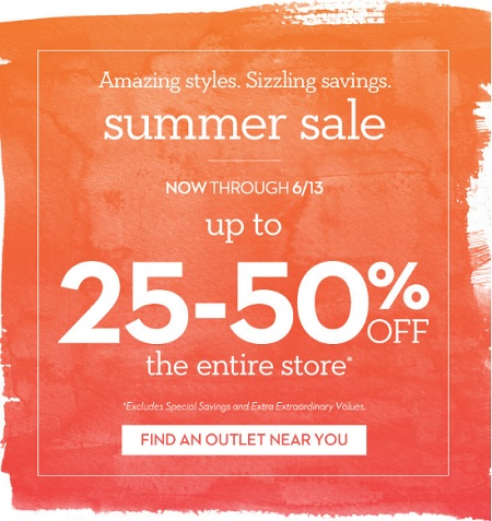 Coupon for: Summer Sale is heating up at Chico's Outlets