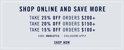 Coupon for: Celebrating starts now at Nautica Factory online