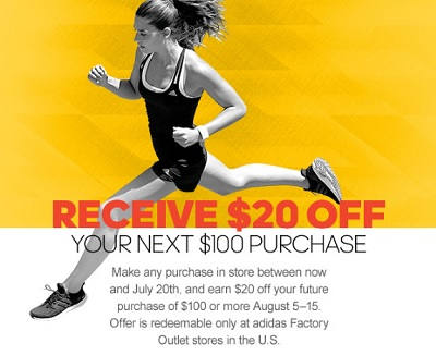 Coupon for: Get discount on your purchase at adidas outlet stores