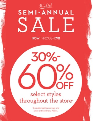 Coupon for: Semi-Annual Sale is on at US Chico's Outlets