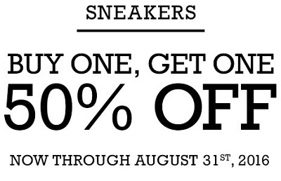 Coupon for: BOGO on sneakers at Converse Factory