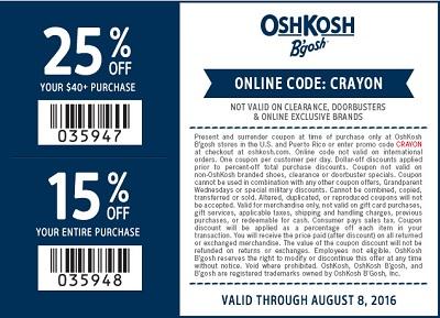 Coupon for: Summer Sale at OshKosh B'gosh