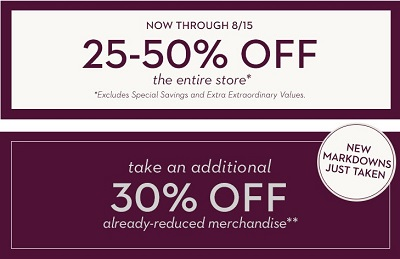 Coupon for: Entire store on sale at Chico's Outlets