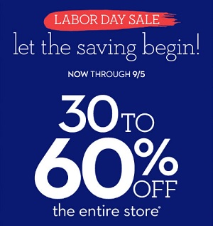 Coupon for: Labor Day Sale at Chico's Outlets