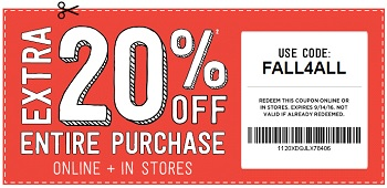 Coupon for: Shop with coupon at Crazy 8