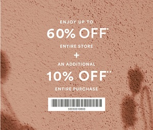 Coupon for: Entire store on sale at Ann Taylor Factory Stores