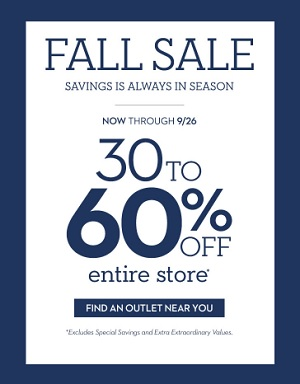 Coupon for: Fall Sale is on at Chico's Outlets