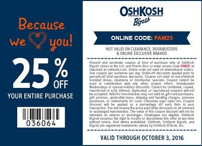 Coupon for: Friends & Family Sale at OshKosh B'gosh