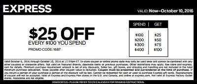 Coupon for: Columbus Day Savings at U.S. Express stores