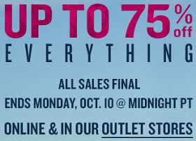 Coupon for: Save up to 75% off at Tommy Bahama Outlets
