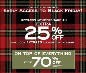Coupon for: Enjoy Early Access to Black Friday at G.H. Bass & Co. Factory Outlet Stores