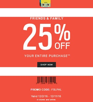 Coupon for: Enjoy Shopping during Fossil Friends & Family Sale