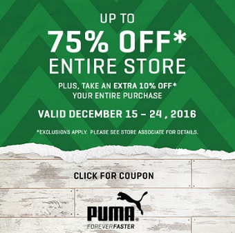 Coupon for: Visit Premium Outlets and save big at PUMA Outlets