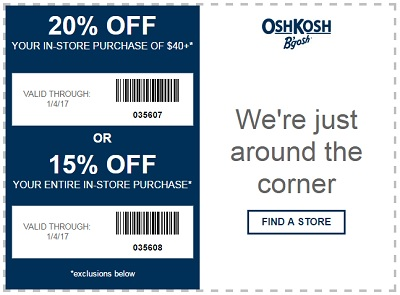 Coupon for: OshKosh B'gosh wishes you a Happy New Year