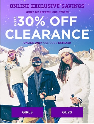 Coupon for: U.S. Aéropostale: Online Exclusive Savings