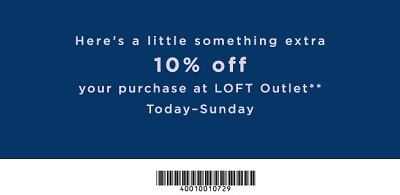 Coupon for: U.S. LOFT Outlets Deal: Get extra discount with coupon