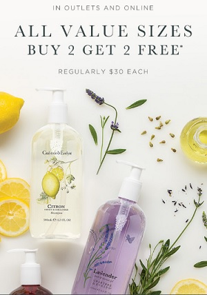 Coupon for: Crabtree & Evelyn Outlets: Buy 2, Get 2 for free