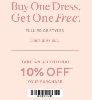 Coupon for: Amazing savings at Ann Taylor Factory Stores