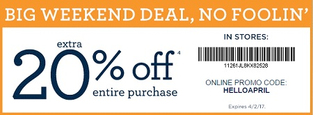Coupon for: Big Weekend Deal at U.S. Gymboree Outlets