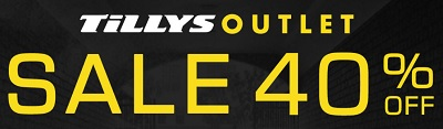 Coupon for: Save money during Tillys Outlet Sale