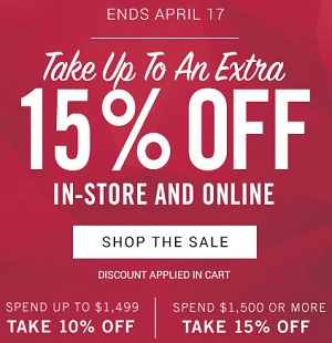 Coupon for: Zales Outlets: Up to an extra 15% off