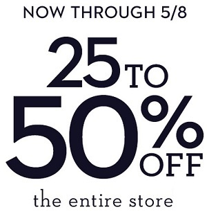 Coupon for: Chico's Outlets: This is it for up to 50% off