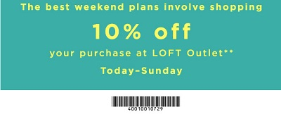 Coupon for: U.S. LOFT Outlet Stores: Print the coupon and save money