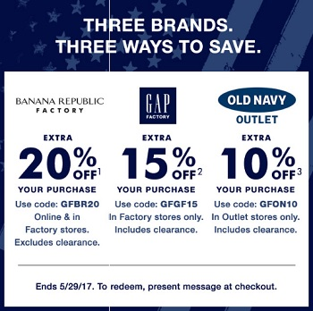 Coupon for: Three brands, three ways to save money