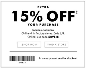 Coupon for: U.S. Banana Republic Factory Deal: Last day to save extra money