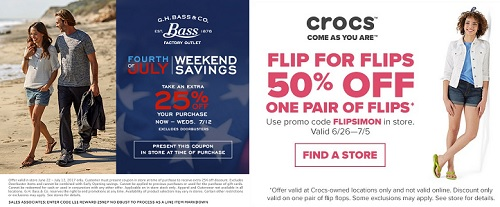Coupon for: Premium Outlets: July 4th Clearance Event