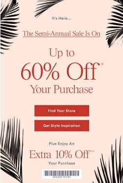 Coupon for: The Semi Annual Sale Is On at U.S. Ann Taylor Factory